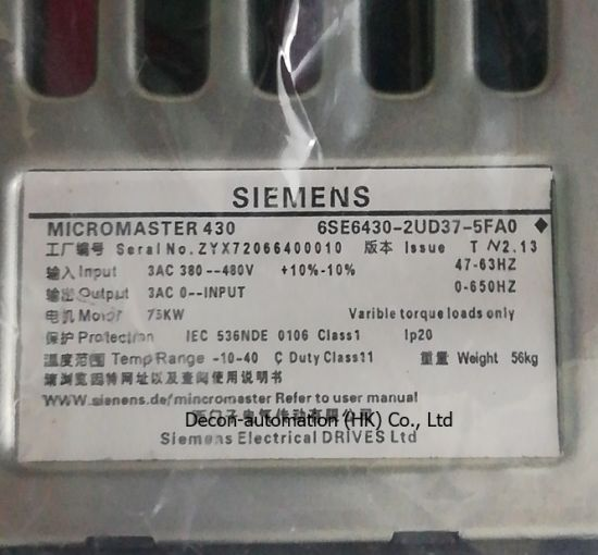 Original Micromaster 430 VFD with Filter by Siemens